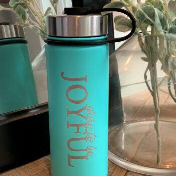 Dare to be Joyful 18 oz Water Bottle   Caribbean