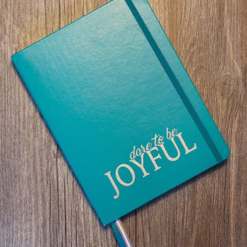 Dare to be Joyful Lined Journal   Teal
