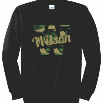 Sweatshirt Camo Script   Black
