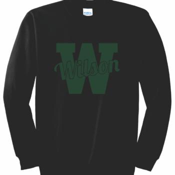 Sweatshirt Green Script   Black