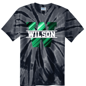 Tie Dye Abstract Block   Black