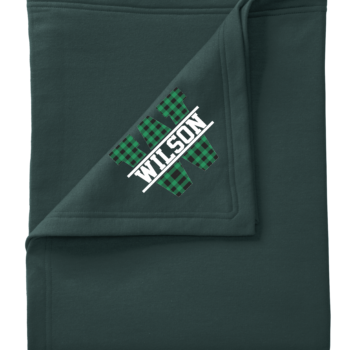 Stadium Blanket Buffalo Block   Green