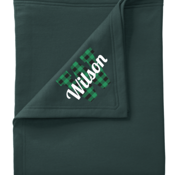 Stadium Blanket Buffalo Script   Green