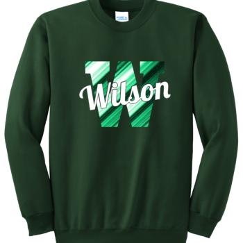 Sweatshirt Abstract Script   Dark Green