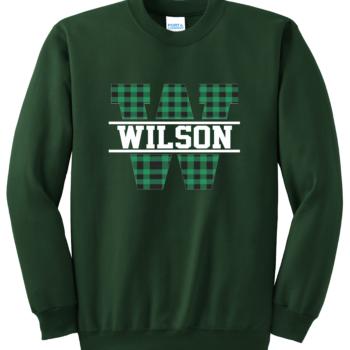 Sweatshirt Buffalo Block   Dark Green
