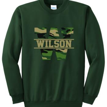 Sweatshirt Camo Block   Dark Green