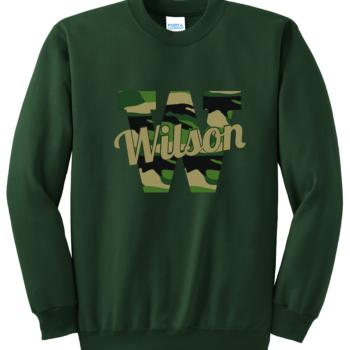 Sweatshirt Camo Script   Dark Green