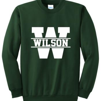 Sweatshirt White Block   Dark Green