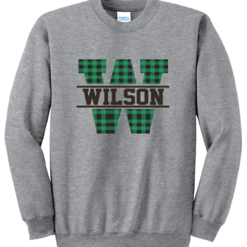 Sweatshirt Buffalo Block   Athletic Heather