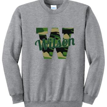 Sweatshirt Camo Script   Athletic Heather