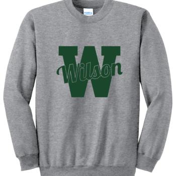Sweatshirt Green Script   Athletic Heather