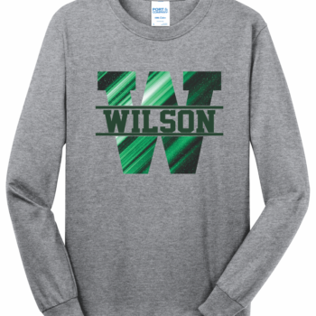 Long Sleeve Abstract Block   Athletic Heather