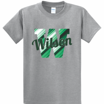 Abstract Script Logo Tee   Athletic Heather