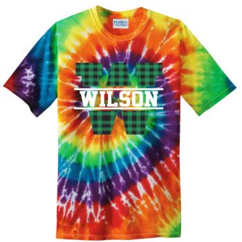 Tie Dye Buffalo Block   Rainbow