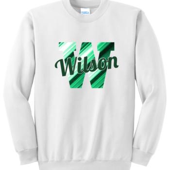 Sweatshirt Abstract Script   White