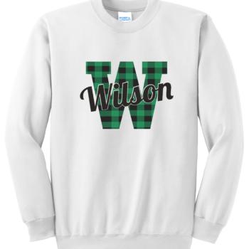 Sweatshirt Buffalo Script   White