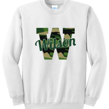 Sweatshirt Camo Script   White