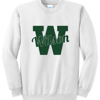 Sweatshirt Green Script   White