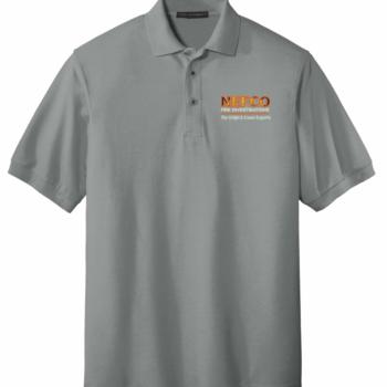 NEFCO Silk Touch Polo Shirt   Cool Grey