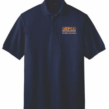 NEFCO Silk Touch Polo Shirt   Navy