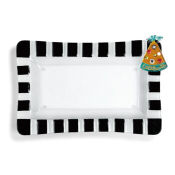 Pop In Back & White Rectange Dish   Dish
