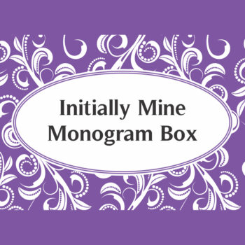 Initially Mine Monogram Box