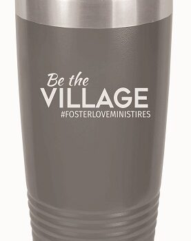 Be the Village 20 oz Insulated Tumbler   Grey