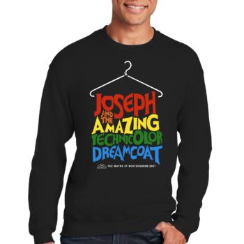 Joseph and the Amazing Technicolor Dream Coat Black Sweatshirt