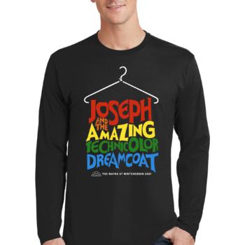 Joseph and the Amazing Technicolor Dream Coat Black Long Sleeve T Shirt