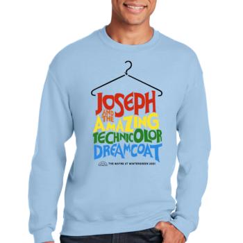 Joseph and the Amazing Technicolor Dream Coat Light Blue Sweatshirt